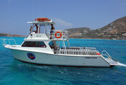 boat diving in st maarten